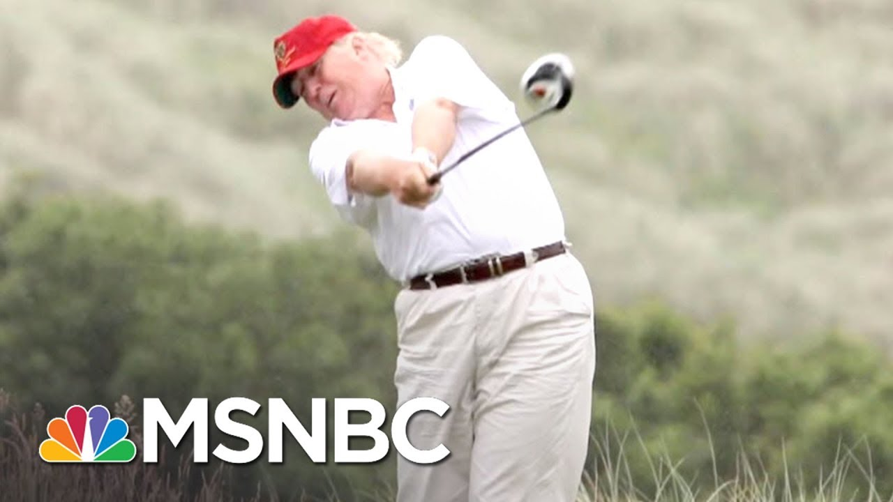 How President Donald Trump Gets Those Great Golf Scores All In Msnbc Youtube