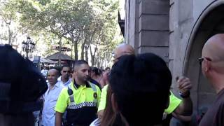 pickpocket arrested  on las ramblas  barcelona