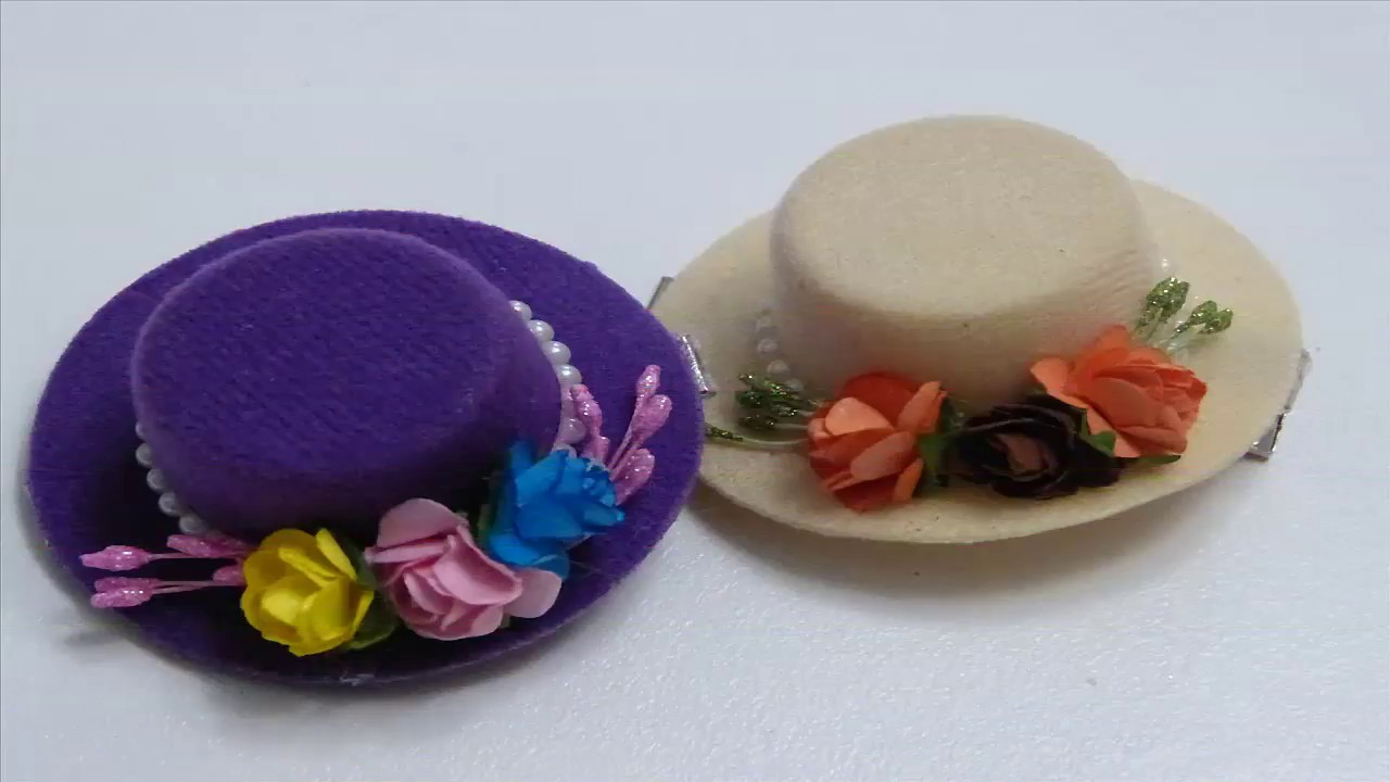 5dd16404a9d6a Como Decorar Fácilmente Sombreros con Flores - YouTube