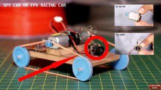 Cara membuat mobil mainan menggunakan camera dan remot control