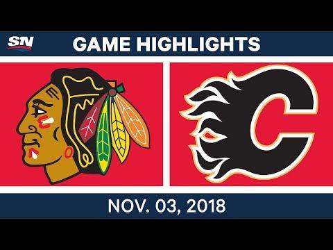 NHL Highlights | Blackhawks vs. Flames– Nov. 3, 2018