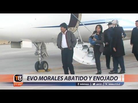 Evo Morales vuelve enojado a Bolivia