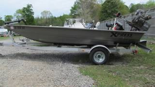 Used 2015 Xpress Boats HD Drop Deck Jon Boat Series DV17DDP For Sale in Stapleton & Theodore, AL!