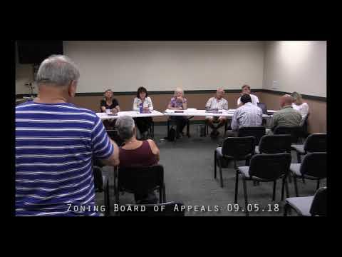 Zoning Board of Appeals 09.05.18