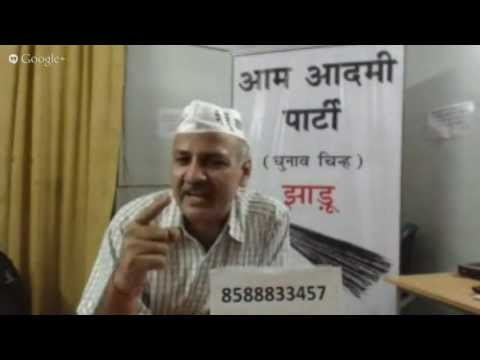 Manish Sisodia  Q & A with Patparganj Voters