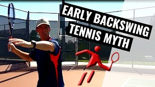 Tennis Training Myth - Tennis Forehand Backswing - Right Handed Training Video