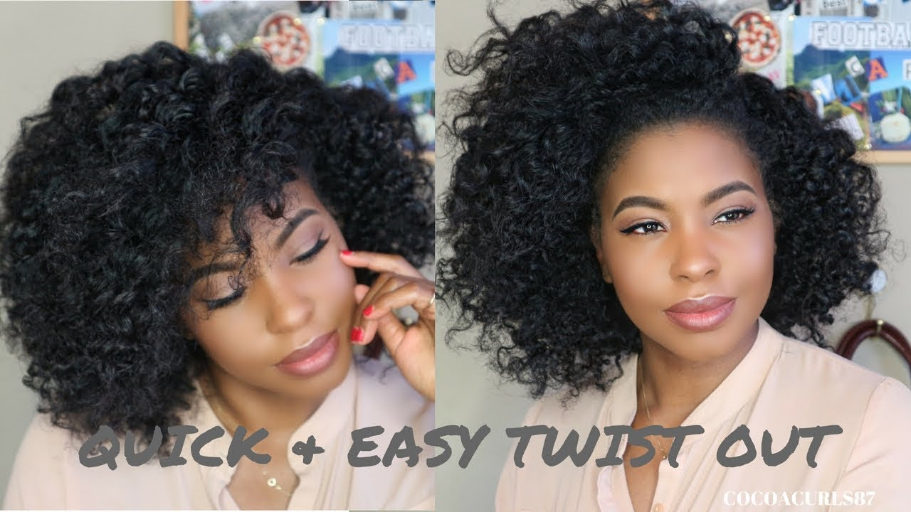 Quick Twist Out On Natural Hair 4 Chunky Twists Natural