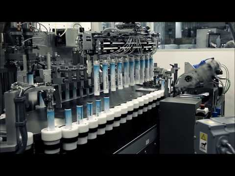 IWK - Pharmaceutical Tube Filling Line - Robot / Tube Filler FP 46-2 / Cartoner SC 4