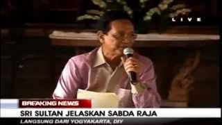 Sultan Hamangkubuwono X Jelaskan Sabda Raja  ~ Berita Hari Ini 8 Mei 2015