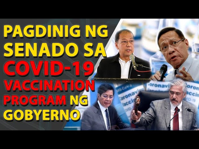 WATCH LIVE: Ikalawang pagdinig ng Senado kaugnay sa COVID-19vaccination program ng pamahalaan
