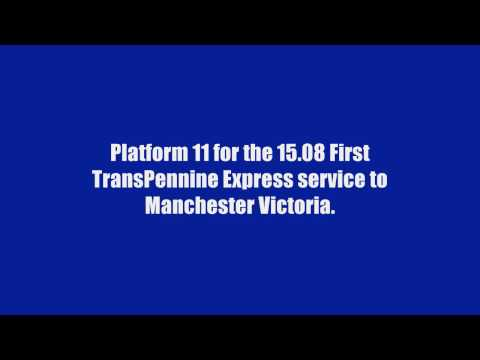 British Railway Station Train Announcements 2017 Number 1 Newcastle Central 2nd January