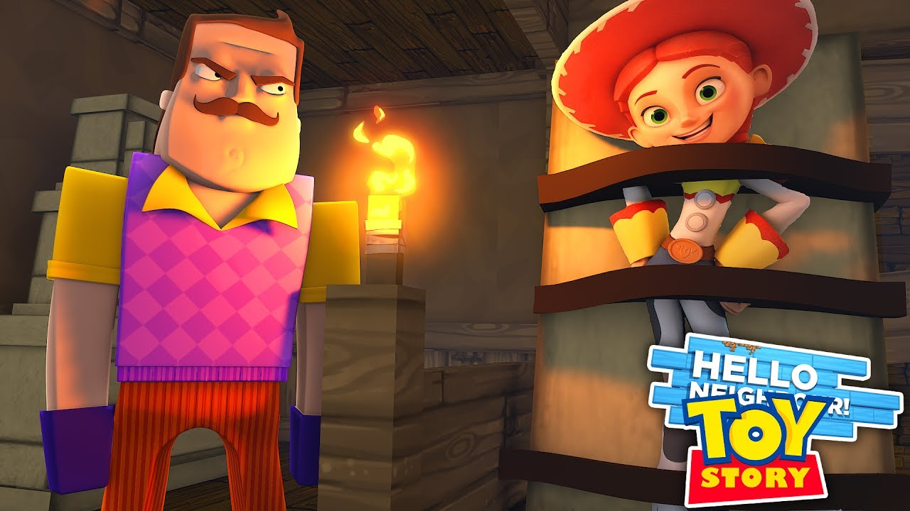 Minecraft Hello Neighbor Captures Jessie From Toy Story