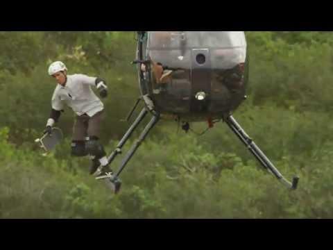 Bob Burnquist mega rampa com helicóptero