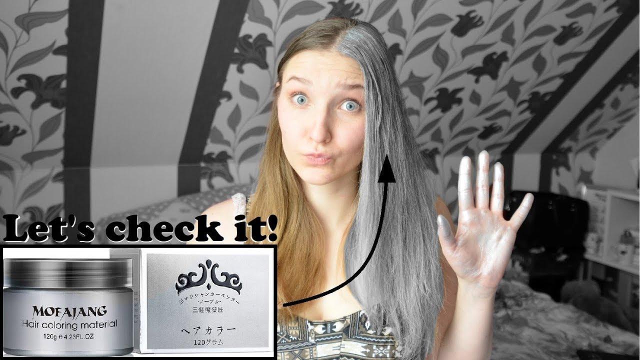 Haarfarbe silber test