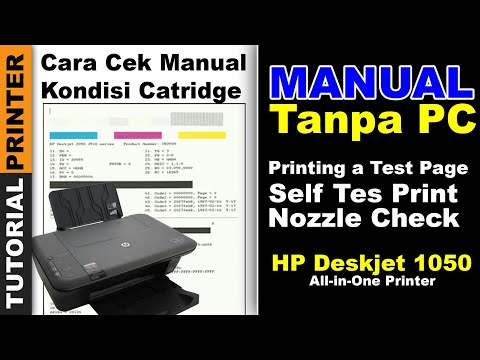 MANUAL CEK NOZZLE PRINT HP DESKJET 1050 TANPA PC, CARA TEST PRINT MANUAL HP1050 HPJ410