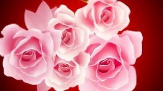 Футаж   «Розовые розы»   фон под слайд шоу