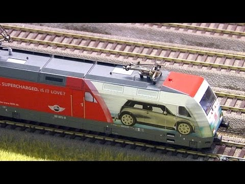 Large Model Railroad Layout with Cab Ride and more than 200 Model Trains in action