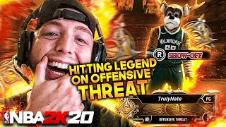 Hitting LEGEND on the OFFENSIVE THREAT BUILD in NBA 2K20!