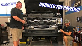 We DOUBLED The Horsepower On Laz's 200,000 Mile Work Truck!!! It Full Blown RIPS Now!
