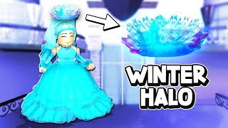 I Got The Christmas Winter HALO In Royale High!! *OMG* (Royale High Roleplay)