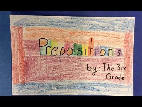 3rd Grade Prepositions