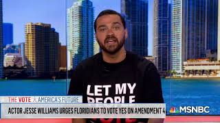 Jesse Williams on Returning Citizens' Voting Rights (MSNBC)