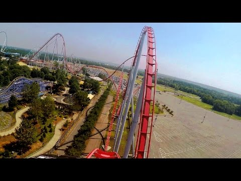 Intimidator front seat on-ride HD POV @60fps Carowinds