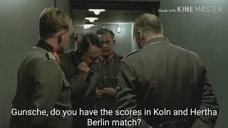 Hitler talks to Gunsche about FC Koln and Hertha berlin match