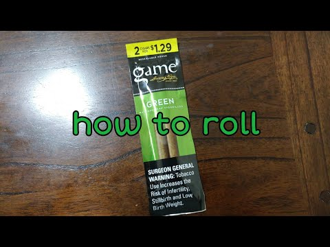 How To Roll Garcia And Vega Game Green Natural Leaf Cigarillo