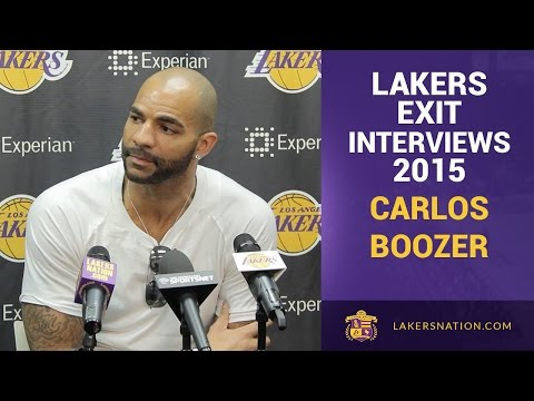 Lakers Exit Interviews 2015: Carlos Boozer And His Future