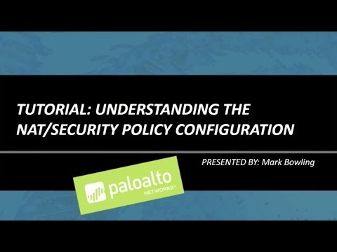 Tutorial: Understanding the NAT/Security Policy Configuration
