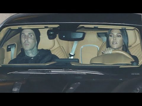 Exclusive Kourtney Kardashian Attends Hillsong Church With Travis