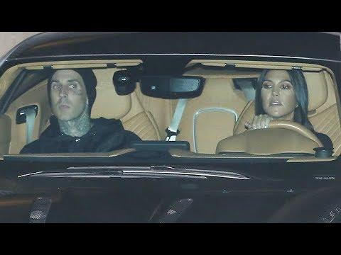 exclusive - kourtney kardashian attends hillsong church with travis