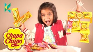 Chupa Chups Lollipops Chupa Chups Sour Belt & Sour Bites India, Candies & Sweets Review  kids react