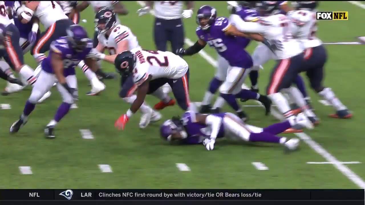 NFL 2018: Bears @ Vikings Jordan Howard touchdown