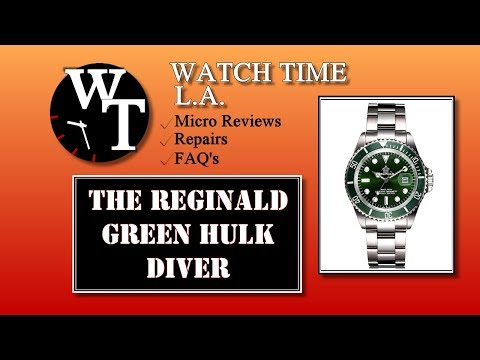 Full Review of The Reginald Green Hulk Diver (AKA Fanmis, Pasoy, Gosasa, Mastop)