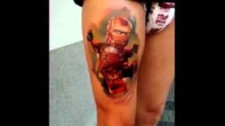Iron Man in Lego-Design Tattoo Artist: Adrian Gruszczyński at Tattoo Zone. Music:Black Sabbath