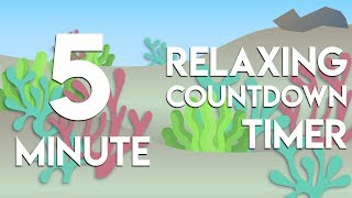 5 min relaxing underwater countdown timer with water sounds for study, classroom, meditation