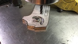 Making A Folding Knife #2  Milling out the stop pin track