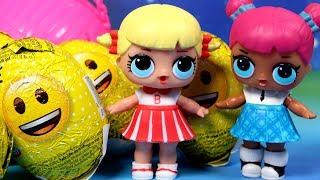 LOL Surprise • Kule i jajka niespodzianki Emotki • bajka po polsku