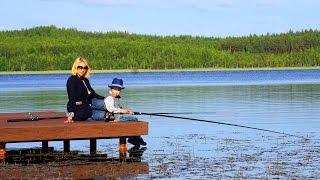 Красный Бор. Рыбалка на пирсе. Krasny Bor. Fishing.