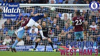 Everton 1-3 West Ham United  | Gwladys Street Reaction