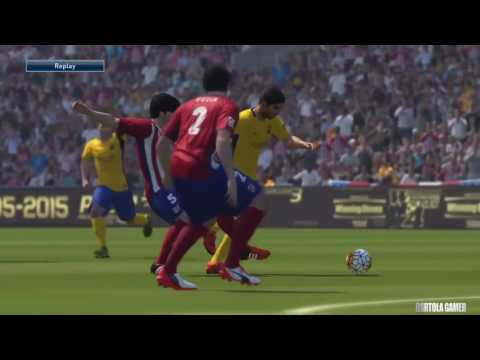 Atletico Madrid vs Barcelona FC PES 2016 La Liga 2015/2016 Gameplay Playtation 4