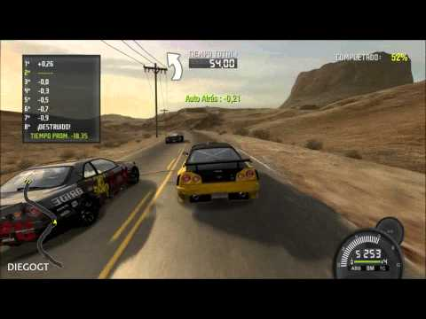 Need for Speed Pro Street: Nissan Skyline GT-R R34 Speed Challenge Nevada