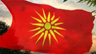 The flag of the Republic of Macedonia between 1992 and 1995.