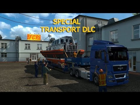Let's Play Euro Truck Simulator 2  - Special Transport DLC !!