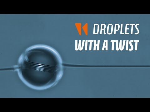 Droplets with a twist