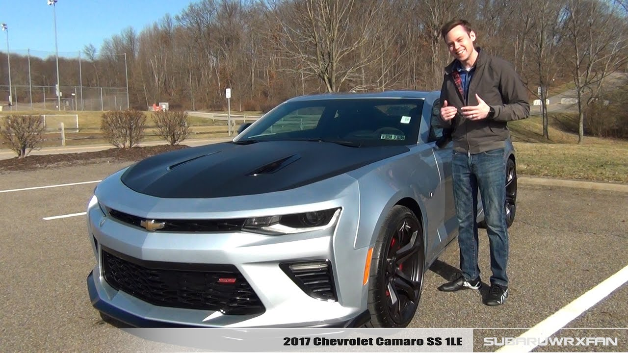 review 2017 chevrolet camaro ss 1le manual youtube. Black Bedroom Furniture Sets. Home Design Ideas