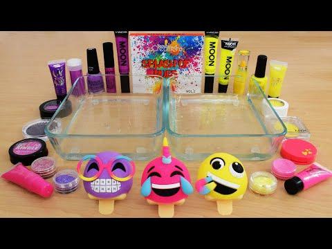 Pink vs Purple vs Yellow - Mixing Makeup Eyeshadow Into Slime ASMR 246 Satisfying Slime Video thumbnail