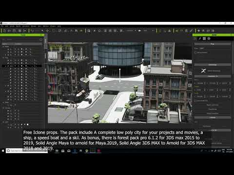 Iclone 7 free props download  Complete Polygon City, Maya and 3ds max